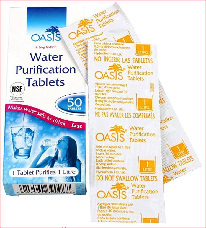 Mountqain Warehouse Oasis Water Purification Tablets